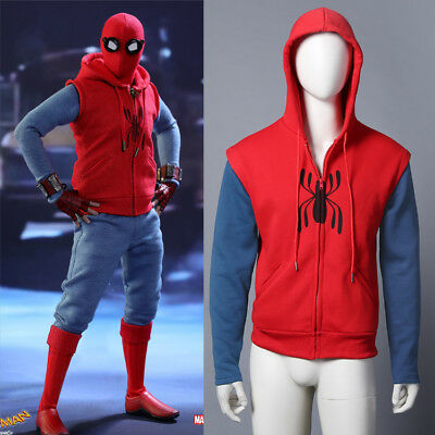Spider-Man: Homecoming Hoodie Jacket Peter Parker Casual Coat Cosplay Costume