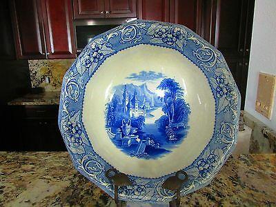 1800s William Ridgeway Charger/Bowl Historical scene