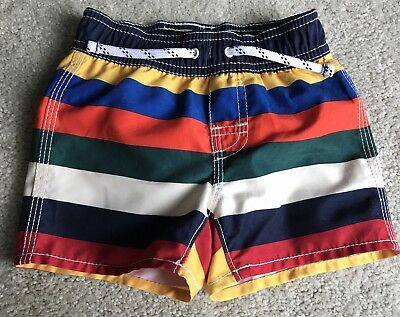 Baby Gap Multi-Colored Striped Swim Shorts size 6-12 Months