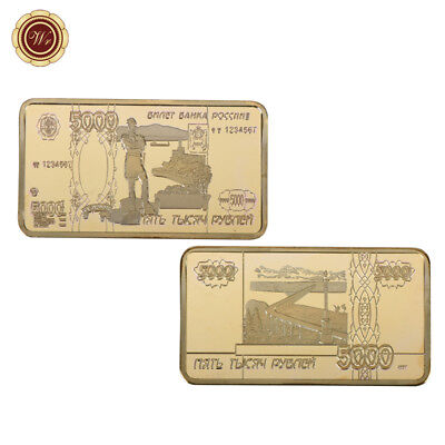 WR 999 1oz Gold Bar 1901 Russia 100 Rubles Note Art Craft Gifts for Men Collect