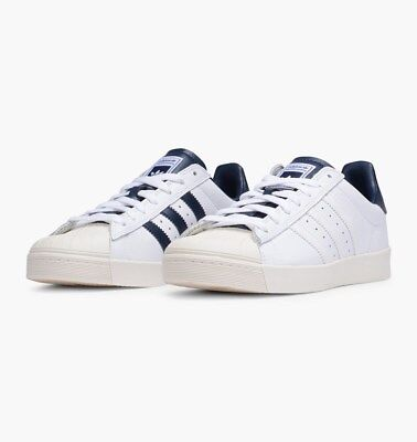 online store 04059 4ac6e ADIDAS SUPERSTAR VULC ADV Shoes White / Navy B27392 MSRP $80