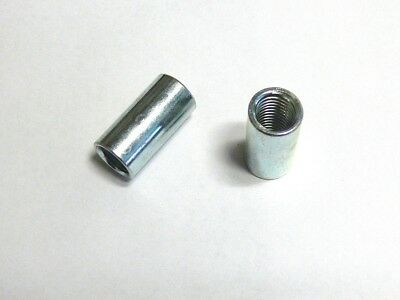 2 Connection sleeves M6, M8, M10 galvanized , round , Long nut , Threaded sleeve