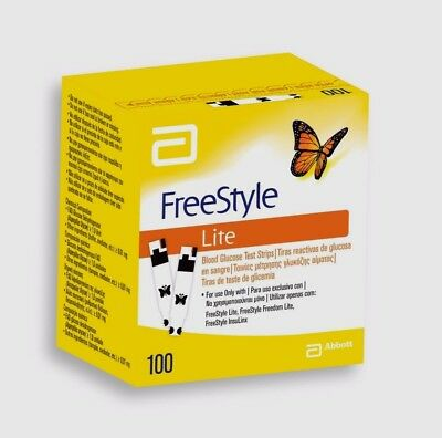FREESTYLE LITE BLOOD GLUCOSE 100 TEST STRIPS exp 11/18