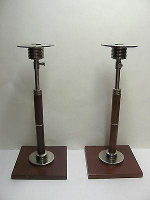 Pair of Global Views Inc. Candle Holders Candlesticks Ajustable Height