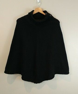 GAP Maternity Black Sweater Poncho Size M/L