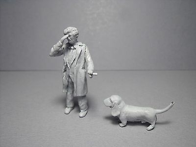 2  Figurines 1/43  Set  349  Columbo  Peter  Falk   Vroom   For  Peugeot  403