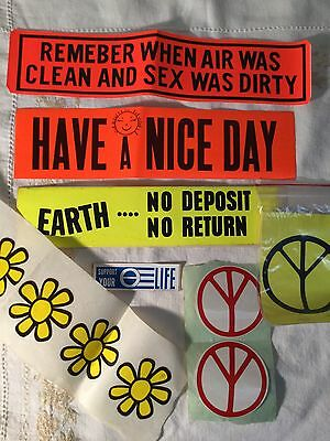 Have A Nice Day /Ecology/1970's Hippie Flowers Stickers Vintage/new lot 11