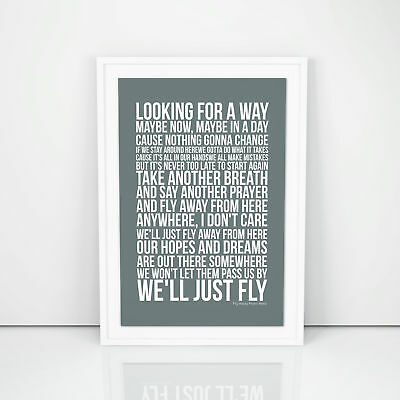 Aerosmith Fly Away From Here Picture Poster Print Lyrics A4 A3 Size Decorative