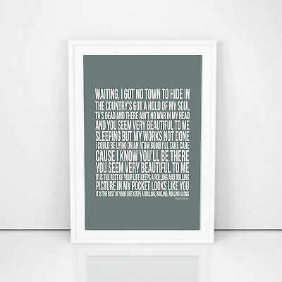 Blur Good Song Lyrics Poster Song A4 A3 Size Artwork Printed Quote