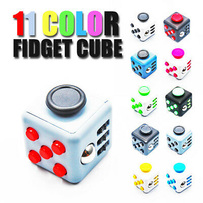Fun 6 Side Magic Fidget Cube Anxiety Stress Relief Toys Gift For Xmas Adult Kids