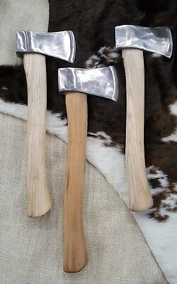 Throwing axes set of 3. Designed and hand forged by Guys Custom Works