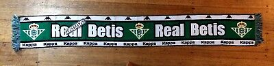 'BNWT' KAPPA La Liga club Real Betis FC supporter scarf Acrylic 1 size fits all