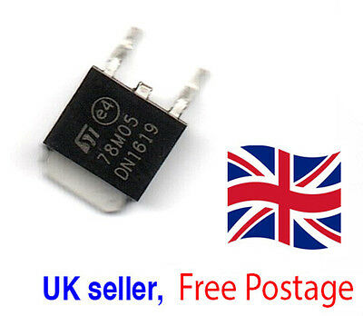 10pcs 78M05 L78M05 ST TO-252 SMD DN1619 Voltage Regulator IC UK Seller