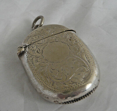 Nicely Decorated Edwardian Oval Vesta Case