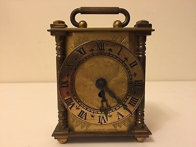 Smiths 8 Day Brass Carriage Clock