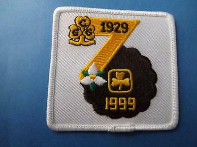 GIRL GUIDES CANADA PATCH 1929 1999 50th ANNIVERSARY VINTAGE COLLECTOR BADGE