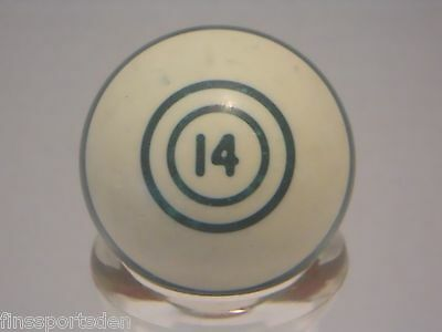 Old Vintage #14 Purple Stripe POOL BALL Favorite Lucky Number Display Shift Knob