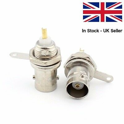 BNC Socket, Panel or Chassis Mount, 50 Ohm, Female with Mounting Nut *Pack of 2*