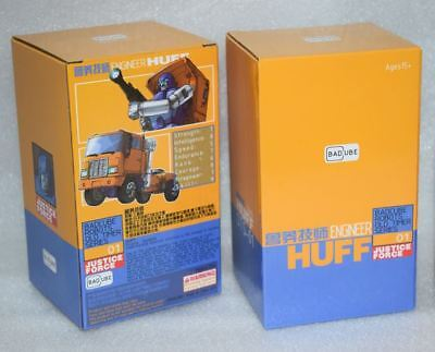 New Transformers BadCube Toy OTS-01 Engineer Huff Huffer Figure In Stock