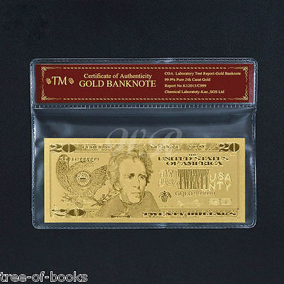 Limited 99.9% 24k Gold Foil Polymer Collectors US $20 WITH COA