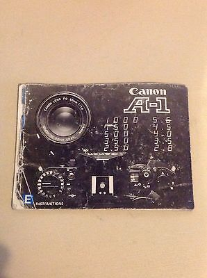 Canon A-1 Instructions / Manual (English)