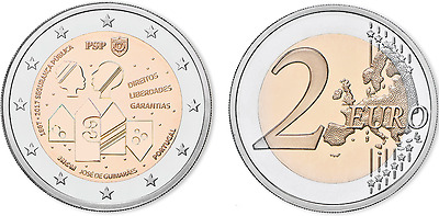 2 EURO COMMEMORATIVE COIN PORTUGAL 2017 - 150 Years of Police UNC