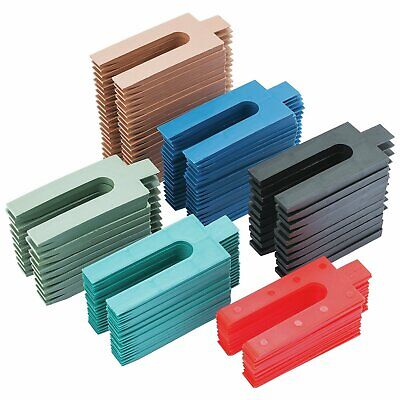 Assorted Plastic Packers 100Pk 1 - 6 Mm Glazing Frame Fixing Dry Lining P225