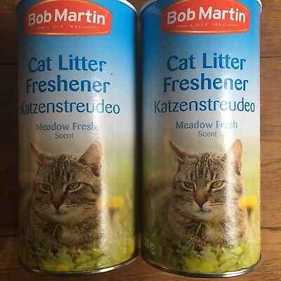 Bob Martin Meadow Fresh Cat Litter Freshener 500g Long Lasting Freshness X 2