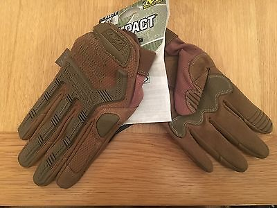 Mechanix Tactical M-Pact Military Combat CP MPACT Gloves Coyote Tan, Small