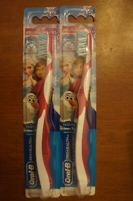 (Lot of 2) Oral-B Pro Health Jr. Kids Manual Toothbrush Disney's Frozen Olaf
