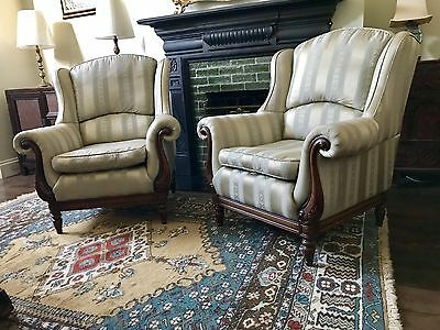Genuine Medallion Armchairs Pair, Harrods