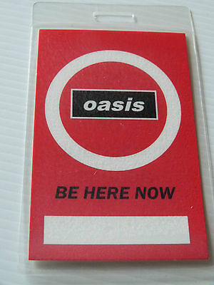 Oasis Be Here Now Laminated Tour Pass (Not Crew/VIP/All Access/Backstage)