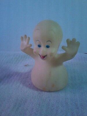 Vintage Casper the friendly ghost figurine / Soft Plastic.