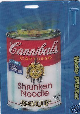 Wacky Packages All New Series (ANS) 8 - CANNIBALS SHRUNKEN NOODLE SOUP #9 of 10