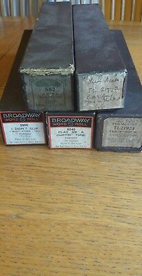 Job lot of vintage Pianola music rolls. Automated music player.