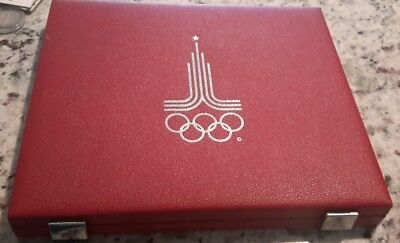Box and COA for Moscow olympic coin programme  (no coins )