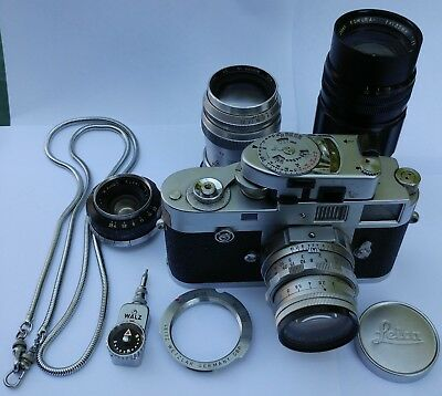 Antique Leica Model M-2 (M2)  35mm Camera set