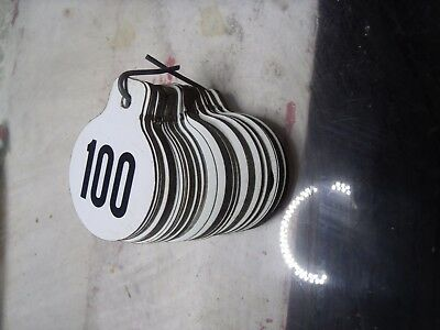 Vintage Hasco Metal Livestock Ear Tags Numbered #1- #100 - ALL 100 pieces