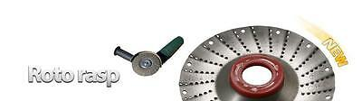 """Roto Rasp-Wood-Carving-Shaping-Disc-1/2""""-115 Mm-For-Angle-Grinder-Tct-Blade"""
