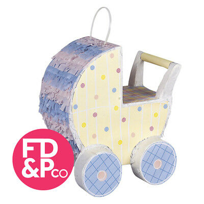 Pink Blue Baby Shower Party Carriage Pram Decoration Pinata