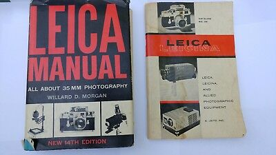 Leica Manual 14th Edition (35mm photography) & Leica Leicina Catalog 36, Antique