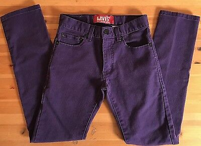 Levis 510 Super Skinny Purple Jeans Size 27 X 27 14 Regular Boys Girls Preowned
