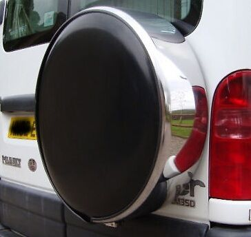 Stainless Steel 4X4 Rear Spare Wheel Tyre Cover Wheelcover Best Quality New Uk