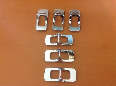 101 VTG MidCentury Handles In A Nickel/Silver Tone . Six available each