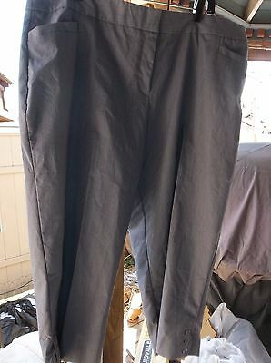 Women's roz & Ali Secret Agent Tummy Control navy/whte Crop Pants Size 20 NWT!!