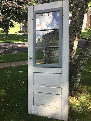 Antique Vintage farm door 3 pane