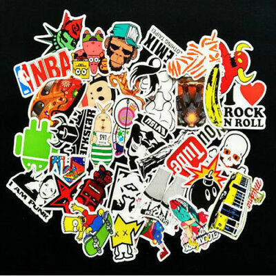 One set 50 Pieces Skateboard Sticker Graffiti Laptop Luggage mix lot personality