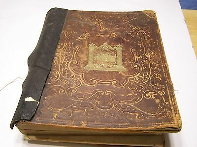 Antique 1858 The Holy Bible John B. Perry Publisher, Philadelphia