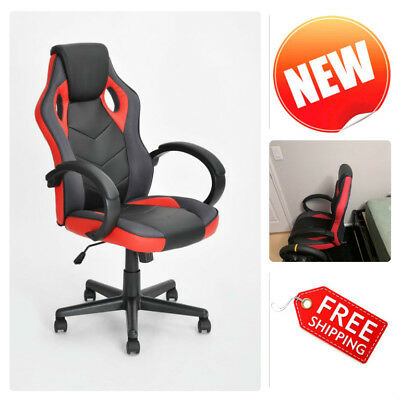 Executive Office Gaming Chair PU Leather Swivel Computer Desk Seat High Back