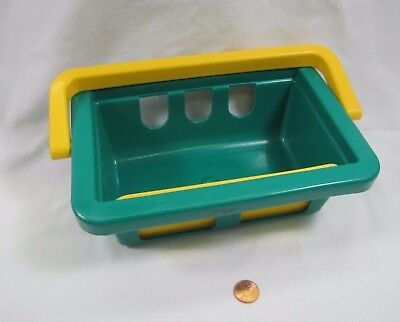 Vintage Fisher Price Fun with Food GROCERY CART SHOPPING BASKET Kitchen Play '98